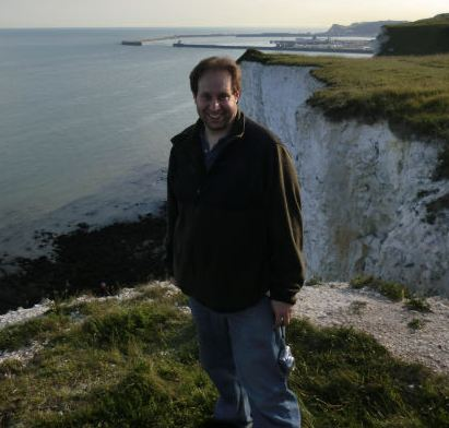 Jeremy at the White Cliffs of Dover